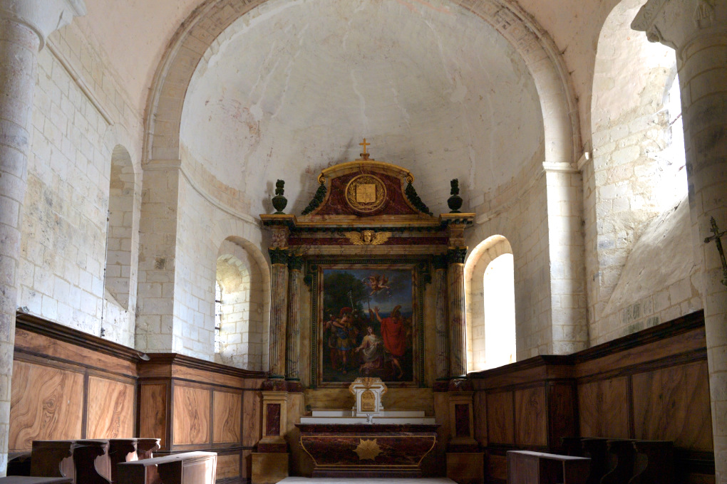 Laroche-Saint-Cydroine - Eglise Saint-Cydroine (XIe-XIIe s.) : l'abside (XIIe s.)