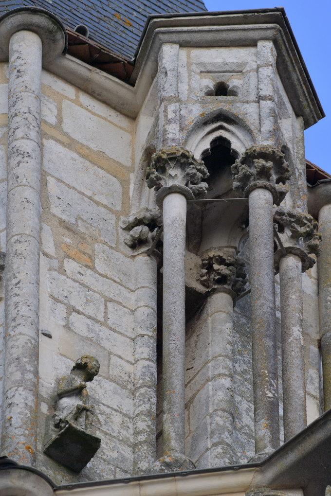 Saint-Père-sous-Vézelay - Eglise Notre-Dame : dais du dernier étage du clocher (XIIIe s.)