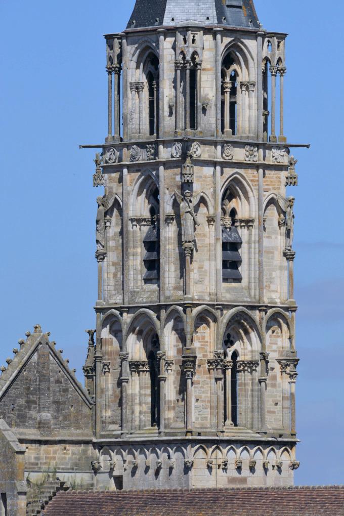 Saint-Père-sous-Vézelay - Eglise Notre-Dame : le clocher (v. 1265)