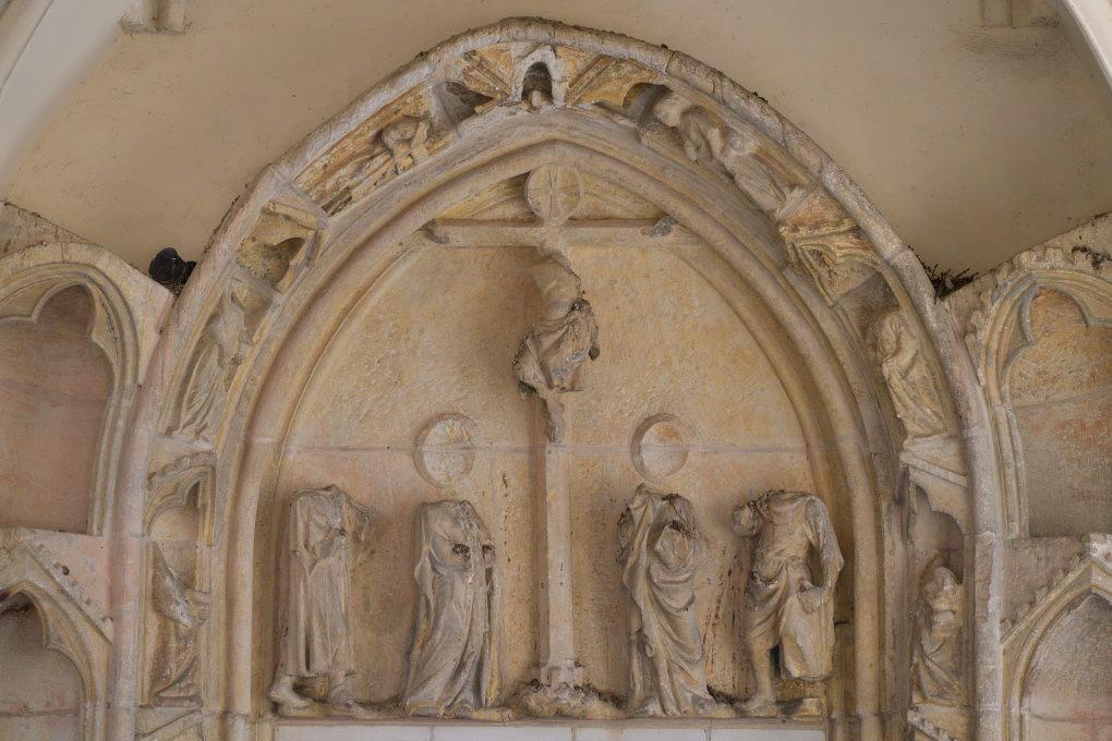 Saint-Père-sous-Vézelay - Eglise Notre-Dame - Tympan sud de la nef, sous le narthex