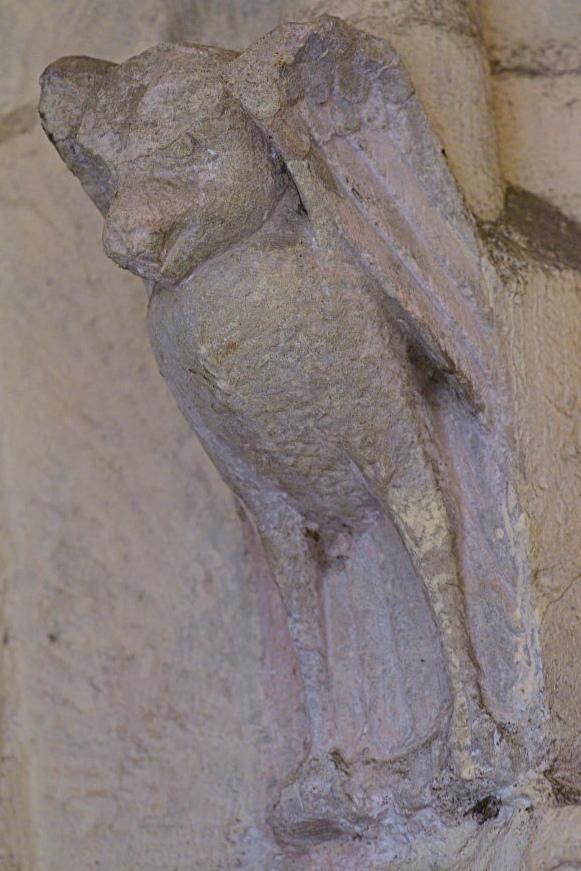 Saint-Père-sous-Vézelay - Eglise Notre-Dame - Narthex - La chauve-souris