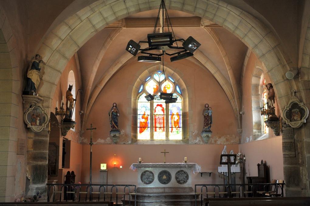 Sainte-Magnance - Eglise Sainte-Magnance (XVe-XVIe siècle) : le chevet plat