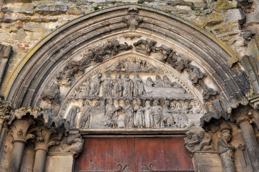 Semur-en-Auxois - Collégiale Notre-Dame (XIIIe siècle) : Portail des Bleds (v. 1250-1260)