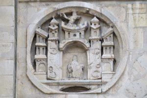 Sens - Cathédrale Saint-Etienne (XIIe-XVIe siècle) - façade de la cathédrale : détail