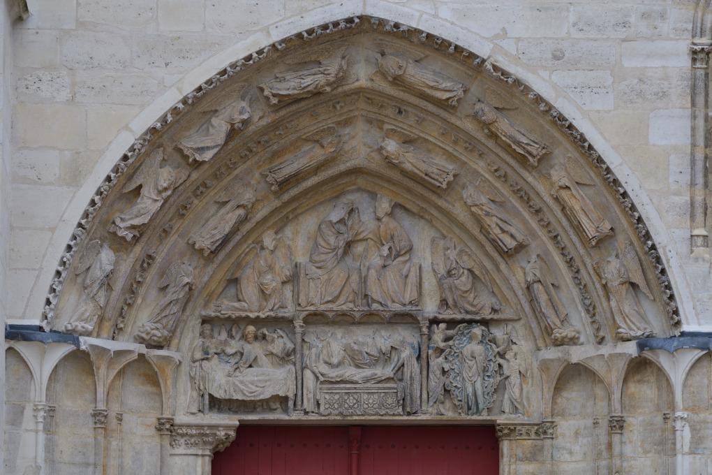 Sens - Cathédrale Saint-Etienne (XIIe-XVIe siècle) : portail de la Vierge (sud)