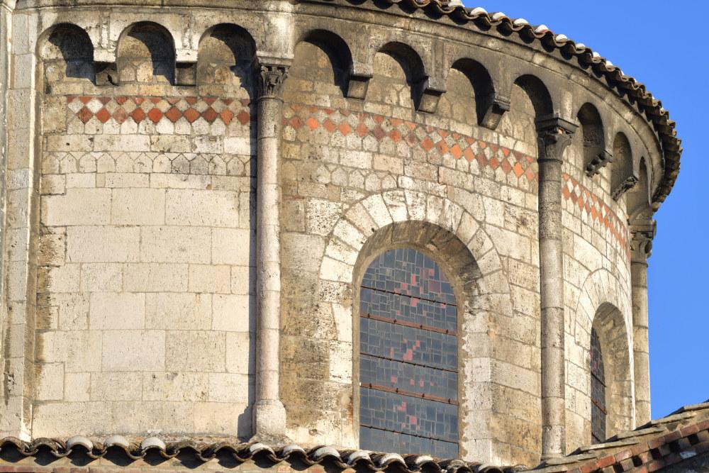 Tournus - Abbatiale : hémicycle de l'abside (XIIe s.)