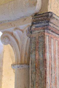Vézelay - Abbatiale Sainte-Madeleine (XIIe s.) : la crypte (v. 1165), détail