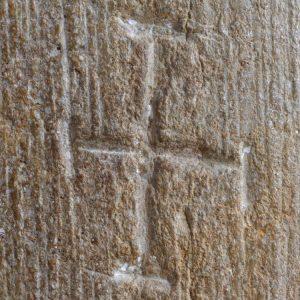 Vézelay - Abbatiale sainte-Madeleine (XIIe s.) : marque lapidaire romane (v. 1120-1130)