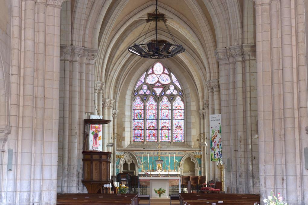Vermenton - Eglise Notre-Dame (XIIe-XIVe s.) : le choeur du XIVe siècle