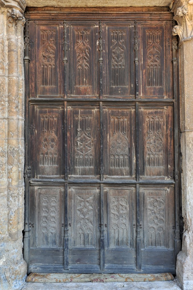 Vitteaux - Eglise Saint-Germain (XIIe-XVIe siècle) : vantaux du portail occidental (XVe siècle)