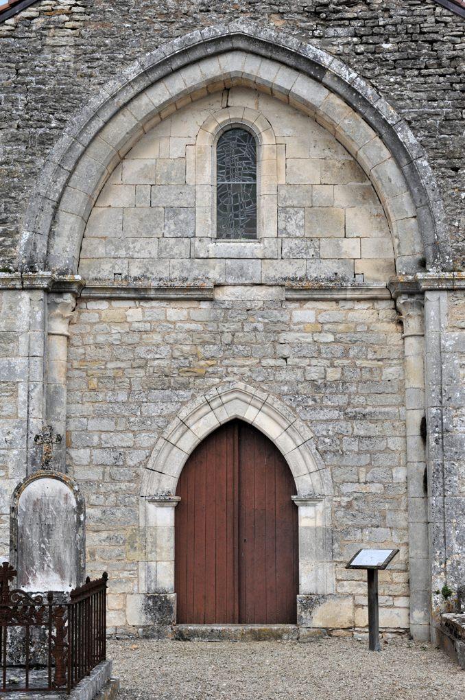 Mailly-le-Château - Chapelle Saint-Siméon (2e moitié du XIIe siècle) : façade