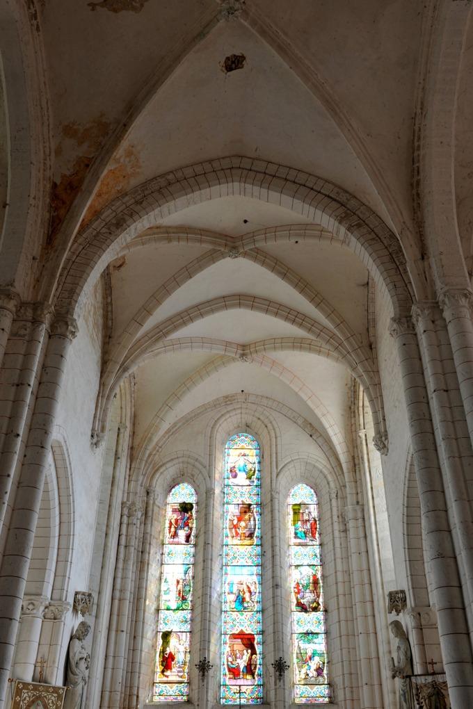 Sacy - Eglise Saint-Jean-Baptiste (XIIe-XIIIe siècle) : le chevet gothique (2e quart du XIIIe siècle)