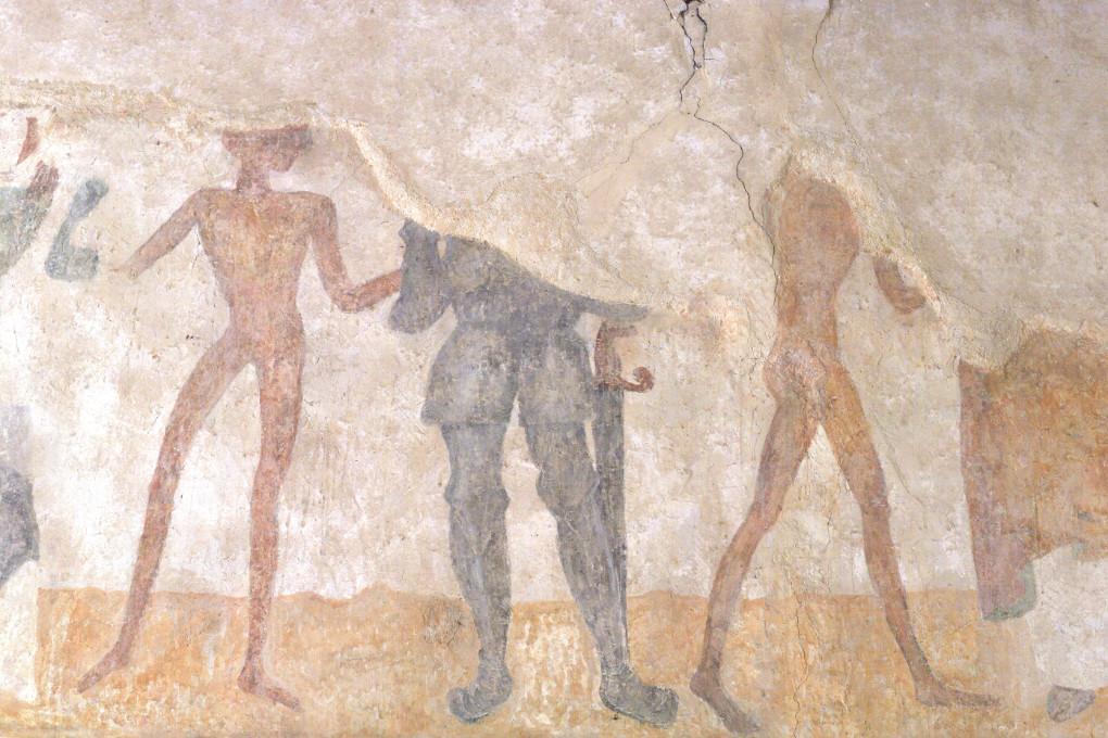 Brianny - Chapelle Sainte-Apolline (XVe s.) - la Danse macabre : l'homme d'armes