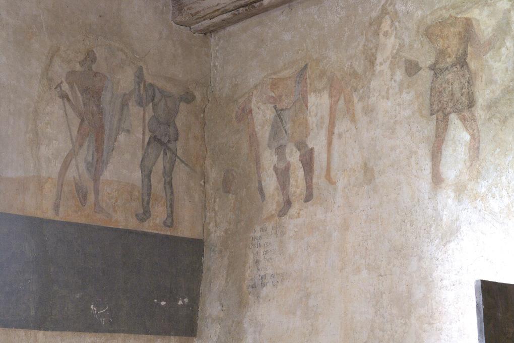 Brianny - Chapelle Sainte-Apolline (XVe s.) - la Danse macabre : hommes d'armes
