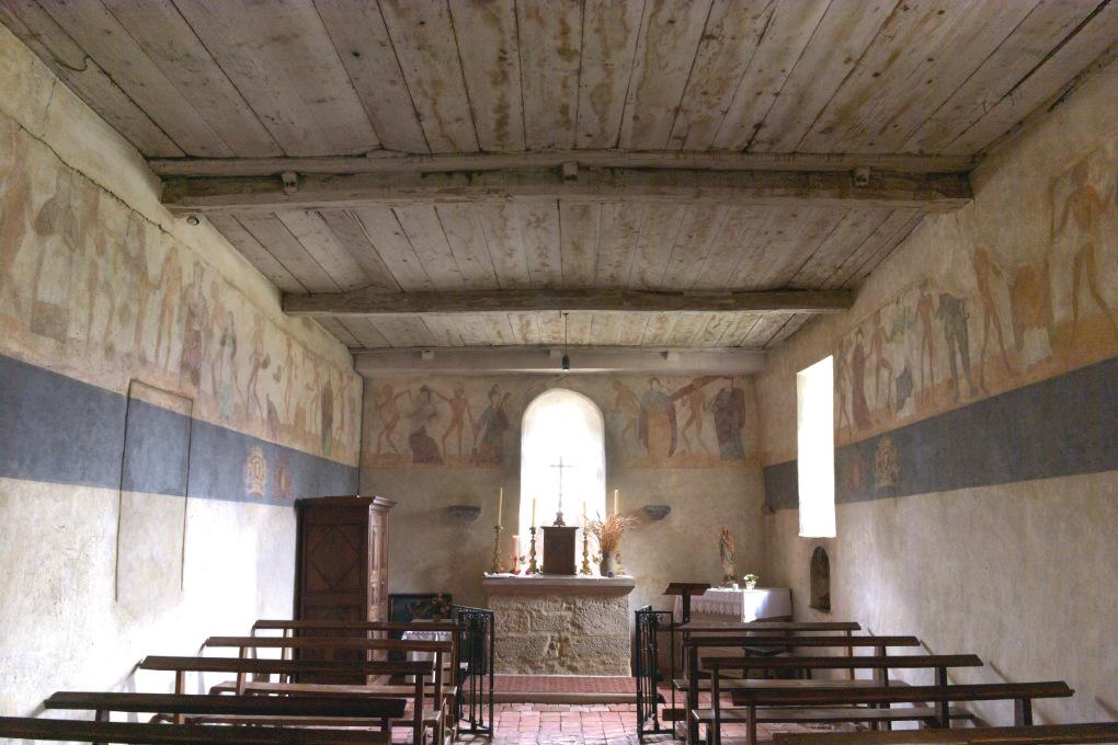Brianny - Chapelle Sainte-Apolline (XVe s.) - la Danse macabre : murs nord, est et sud