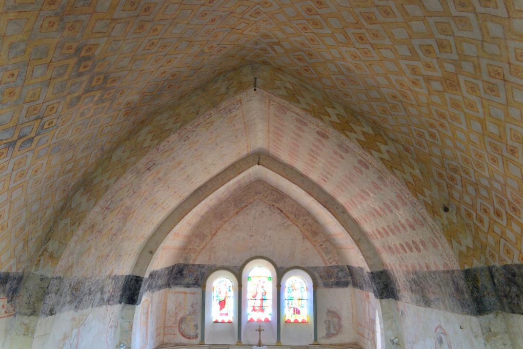 Chassignelles - Eglise Saint-Jean-Baptiste (XIIe-XVe s.) : peintures murales