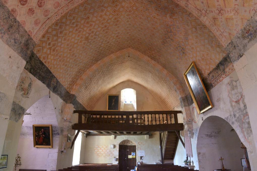 Chassignelles - Eglise Saint-Jean Baptiste (XIIe s.) : peintures murales