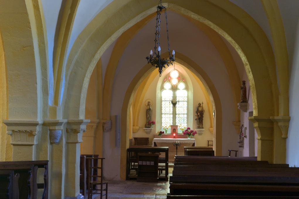 Chaudenay - Eglise Saint-Véran (XIIe-XVe s.) : bas-côté sud