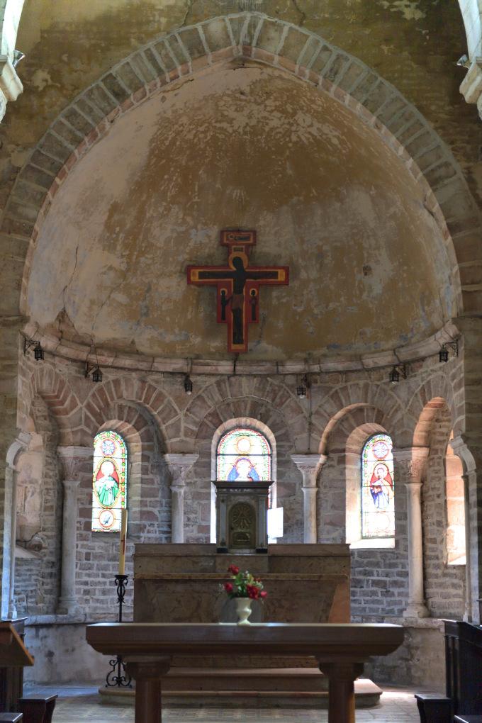 Ciel - Eglise Notre-Dame-de-l'Assomption (XIIe s.) : l'abside