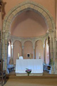 Laizy - Eglise Saint-Julien (XIIe s.) : l'abside