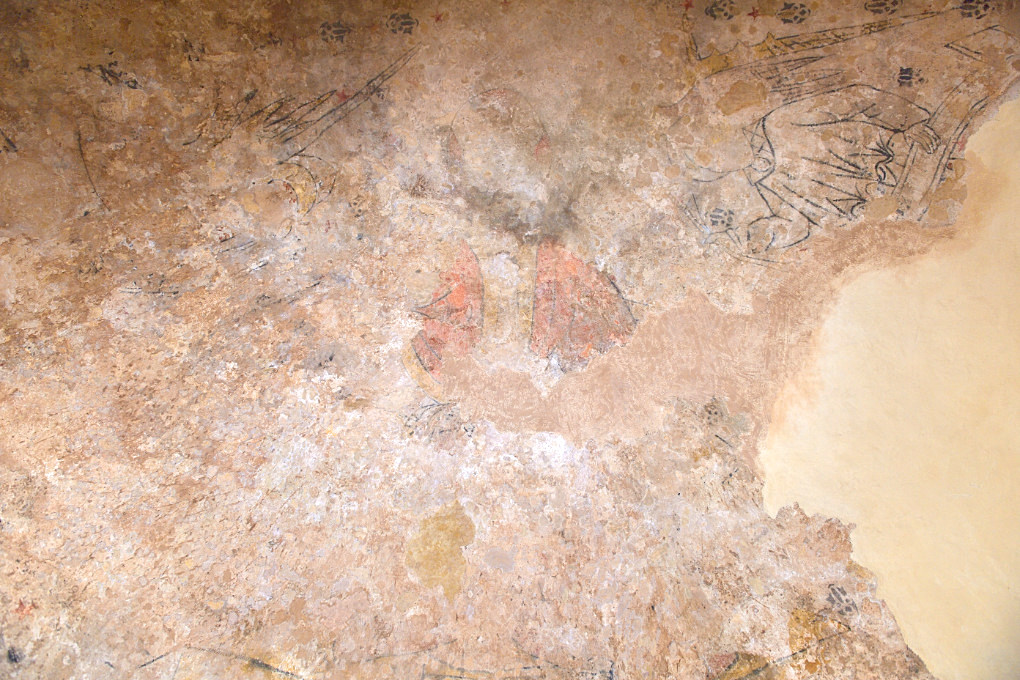 Marly-sur-Arroux - Ancienne église saint-Symphorien (XIIe s.) : peintures murales (XVe-XVIe s.)