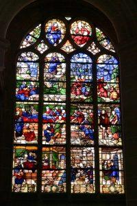 Villeneuve-sur-Yonne - Le vitrail de la Vierge (XVIe s.)