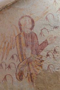 Fontenay-près-Vézelay - Eglise Saint-Germain - Crypte : l'ange (XIIIe s.)