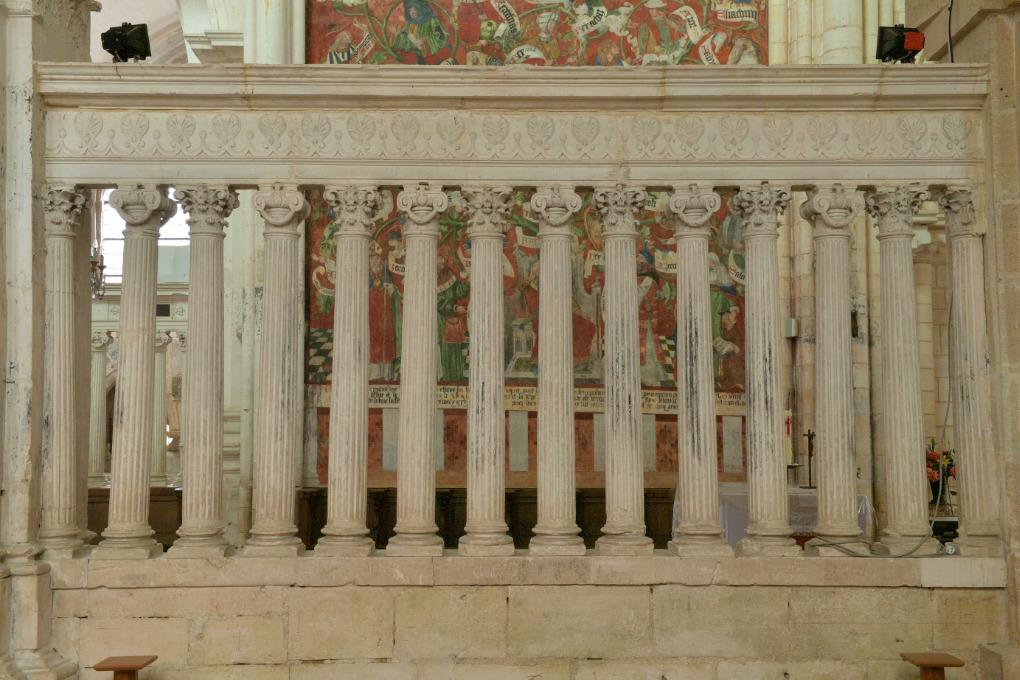 Saint-Bris-le-Vineux - église Saint-Prix-et-Saint-Cot (XIIIe-XVIe s.) : clotures à balustres du sanctuaire (milieu du XVIe s.)
