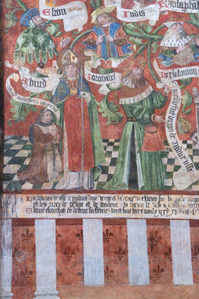 Saint-Bris-le-Vineux - église Saint-Prix-et-Saint-Cot (XIIIe-XVIe s.) : l'Arbre de Jessé (1500)