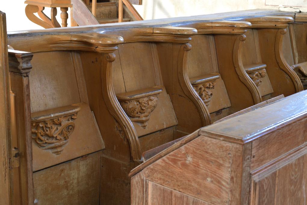 Sainte-Pallaye - Eglise Sainte-Pallaye : stalles de Reigny (XVIe s.)