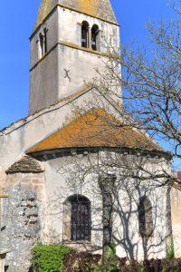 Donzy-le-National - Eglise Sainte-Marie-Madeleine : chevet de la fin du XIIe siècle