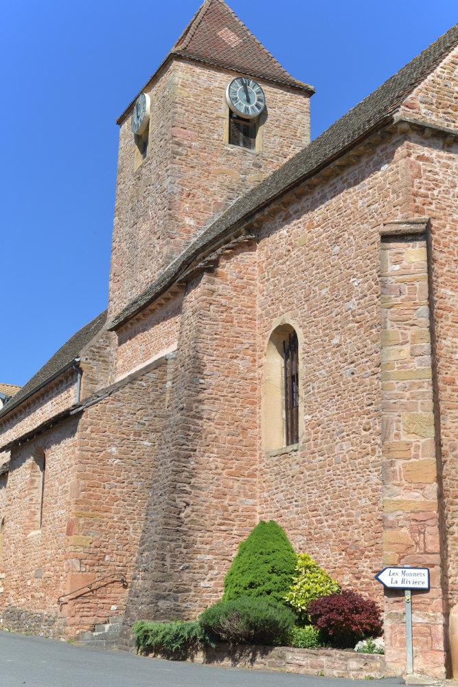 Leynes - Eglise romane Saint-Vital (XIIe s.)