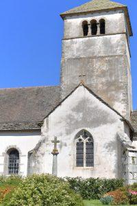 Sainte-Hélène - Eglise Saint-Symphorien (XIIe s. et époque gothique) : le clocher roman (fin du XIIe s.)