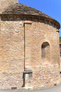 Solutré-Pouilly - Eglise Saint-Pierre (XIIe s.) : l'abside