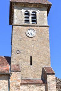Solutré-Pouilly - Eglise Saint-Pierre (XIIe s.) : le clocher